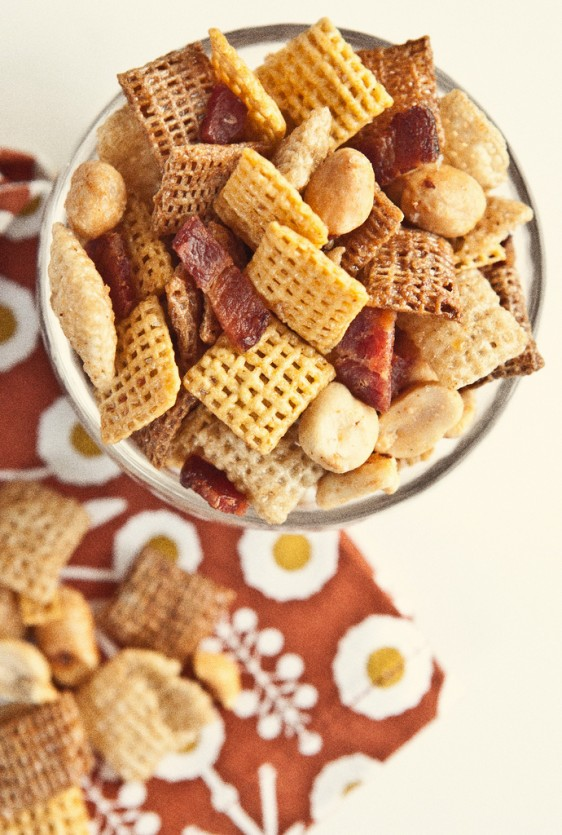 Maple Bacon Party Mix - Not Without Salt