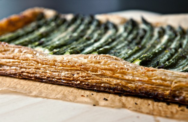 asparagus tart with walnuts and parmesan - Not Without Salt