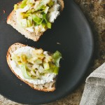 Melted Leeks and Ricotta Tartine // not without salt