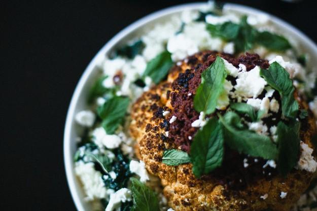 Whole Roasted Cauliflower with Sun-Dried Tomato Vinaigrette - Not ...